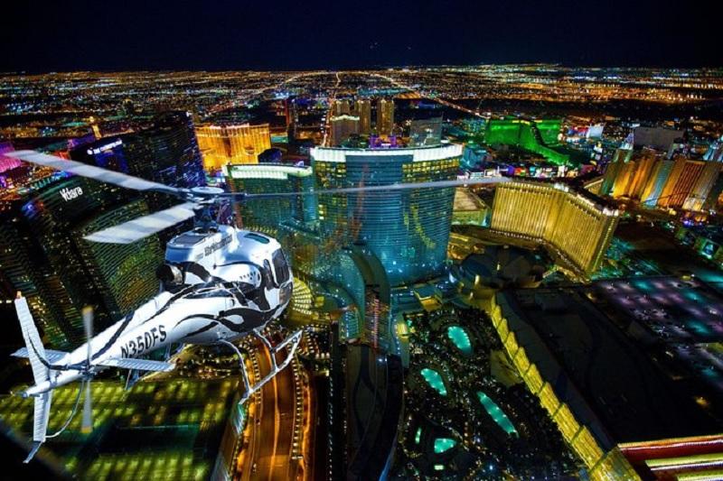 Tour de helicóptero para ver as luzes de Las Vegas